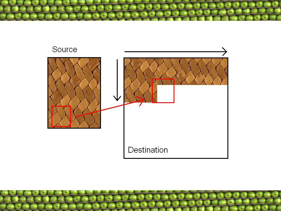 Tiles are copied from left to right, top to bottom (though this is not a requirement).