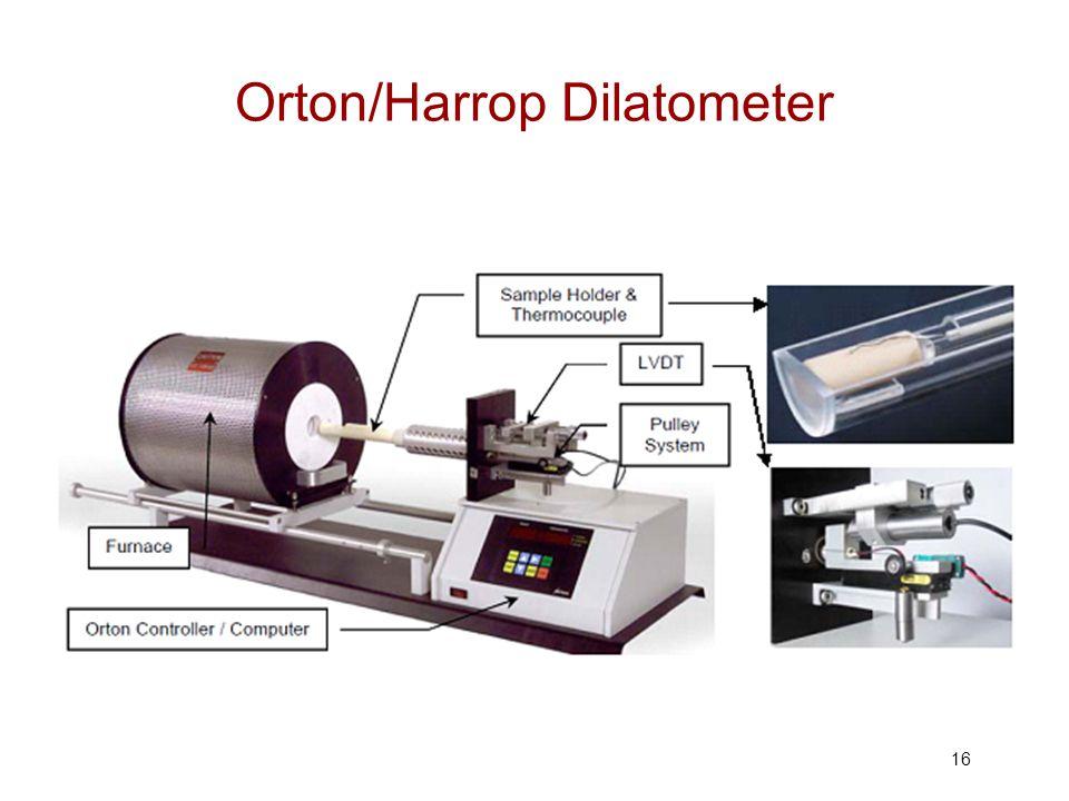 Orton/Harrop Dilatometer