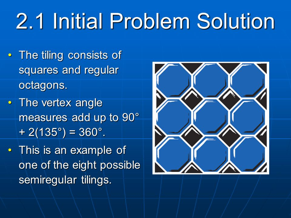 2.1 Initial Problem Solution