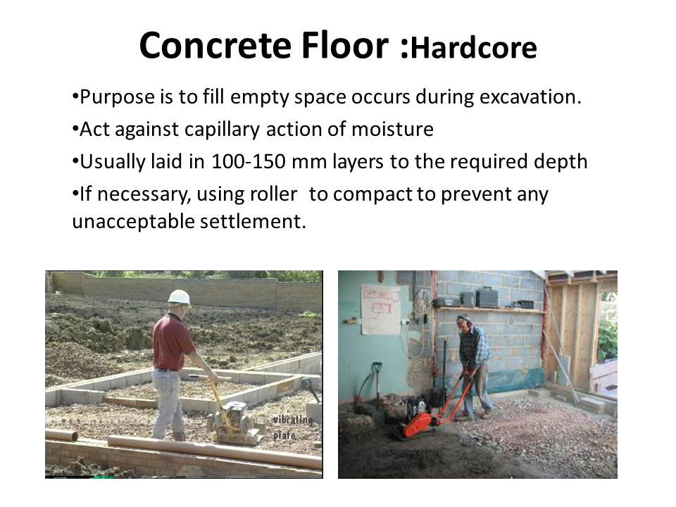 Concrete Floor :Hardcore