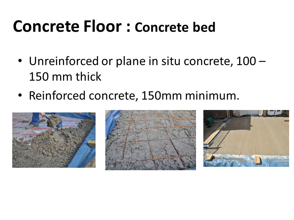 Concrete Floor : Concrete bed