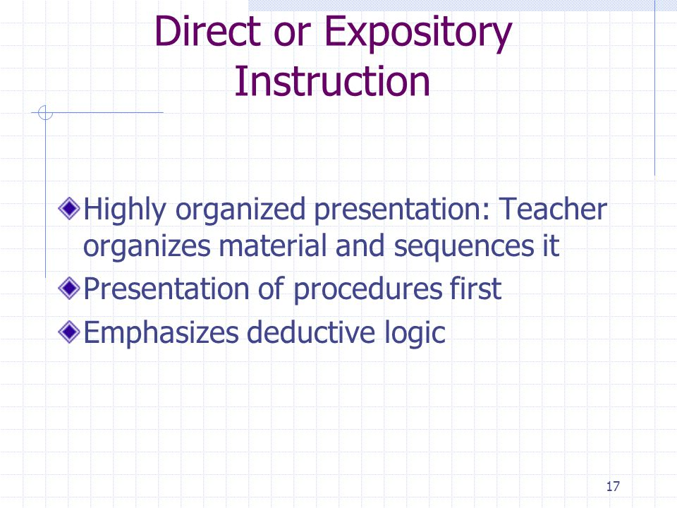 Direct or Expository Instruction