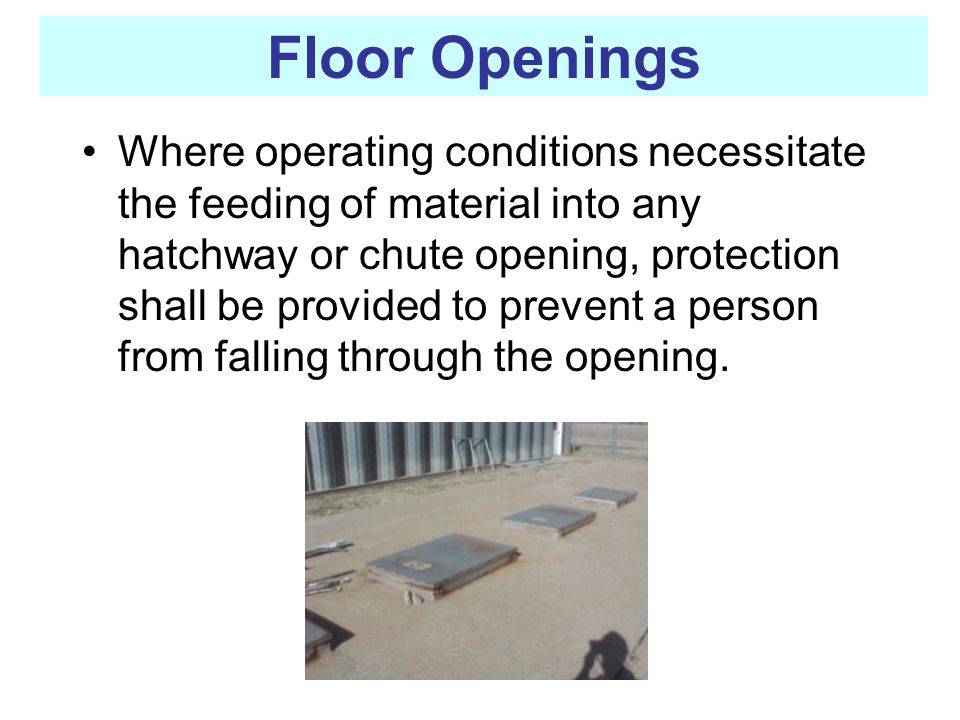Floor Openings
