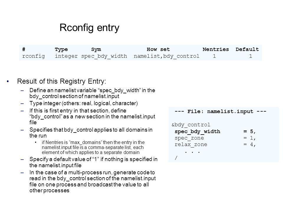 Rconfig entry Result of this Registry Entry: