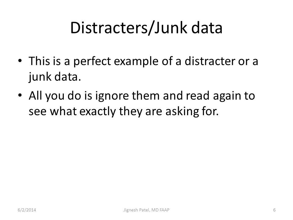 Distracters/Junk data