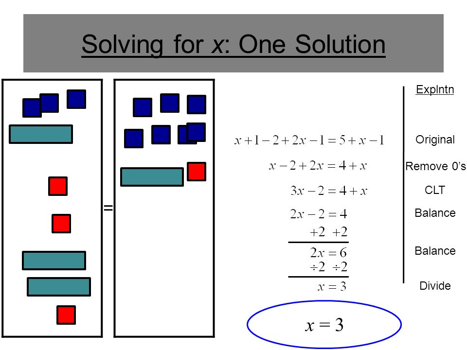 Solving for x: One Solution
