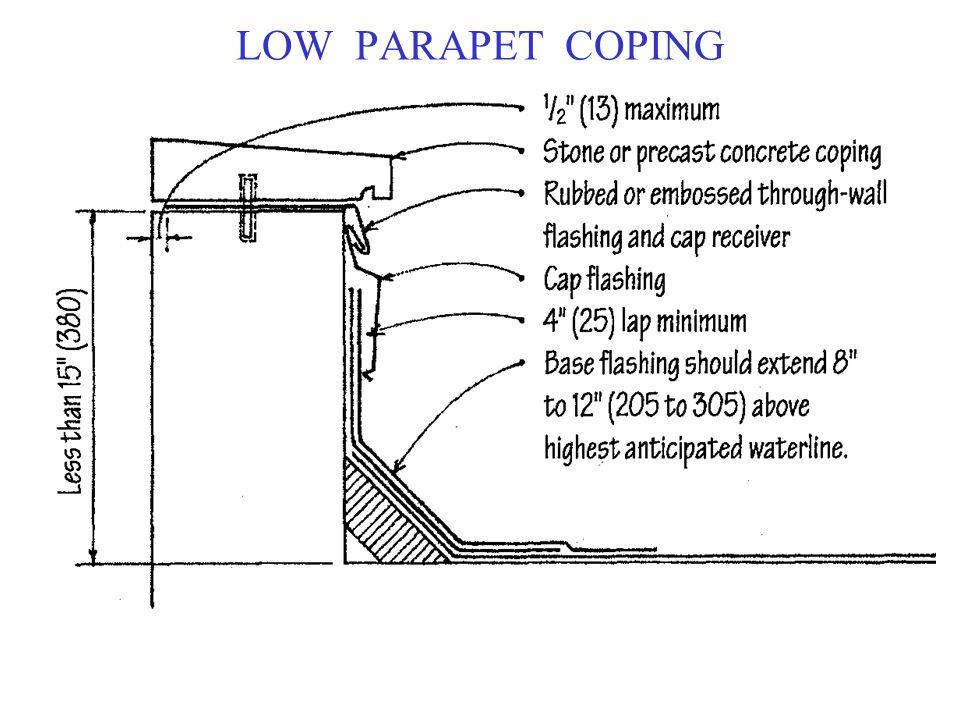 LOW PARAPET COPING