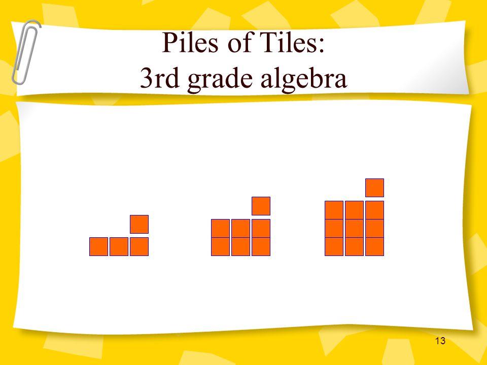 Piles of Tiles: 3rd grade algebra