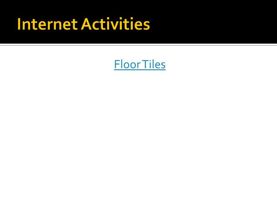 Internet Activities Floor Tiles