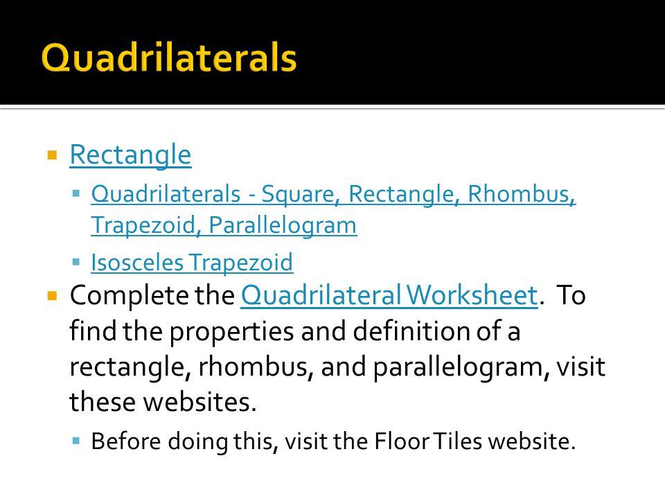 Quadrilaterals Rectangle