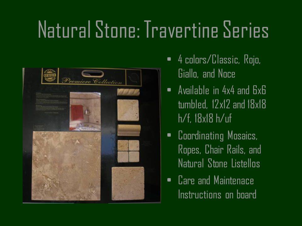 Natural Stone: Travertine Series