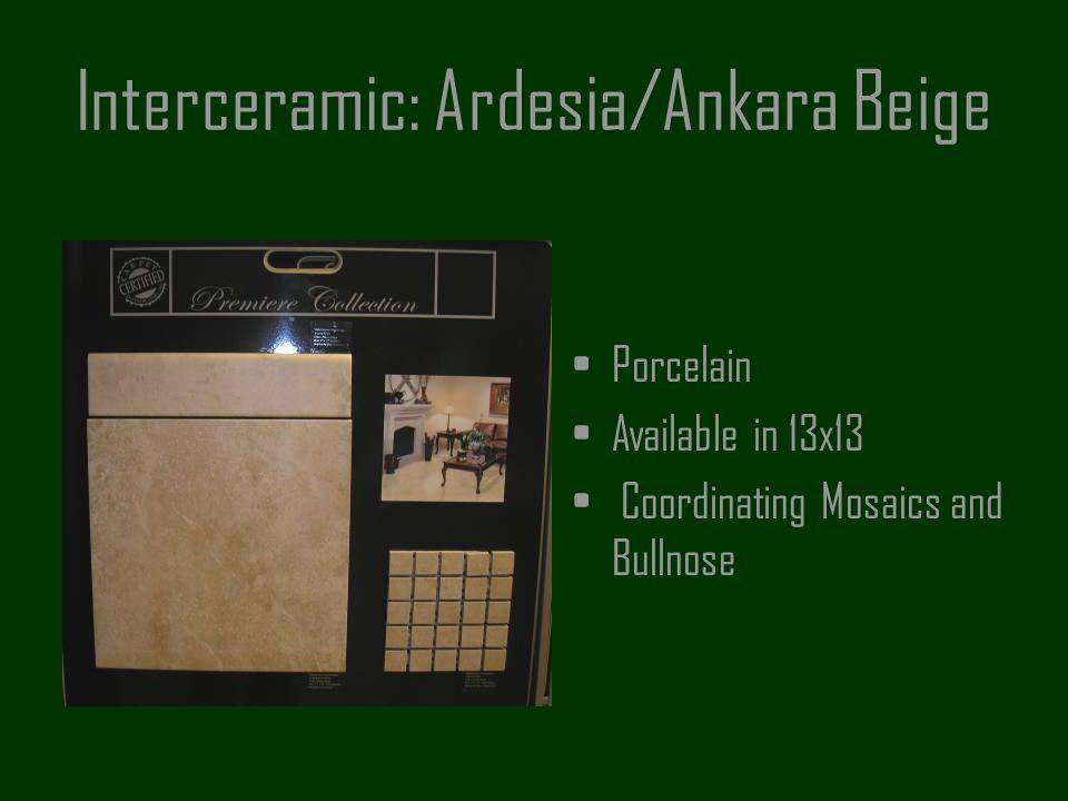 Interceramic: Ardesia/Ankara Beige