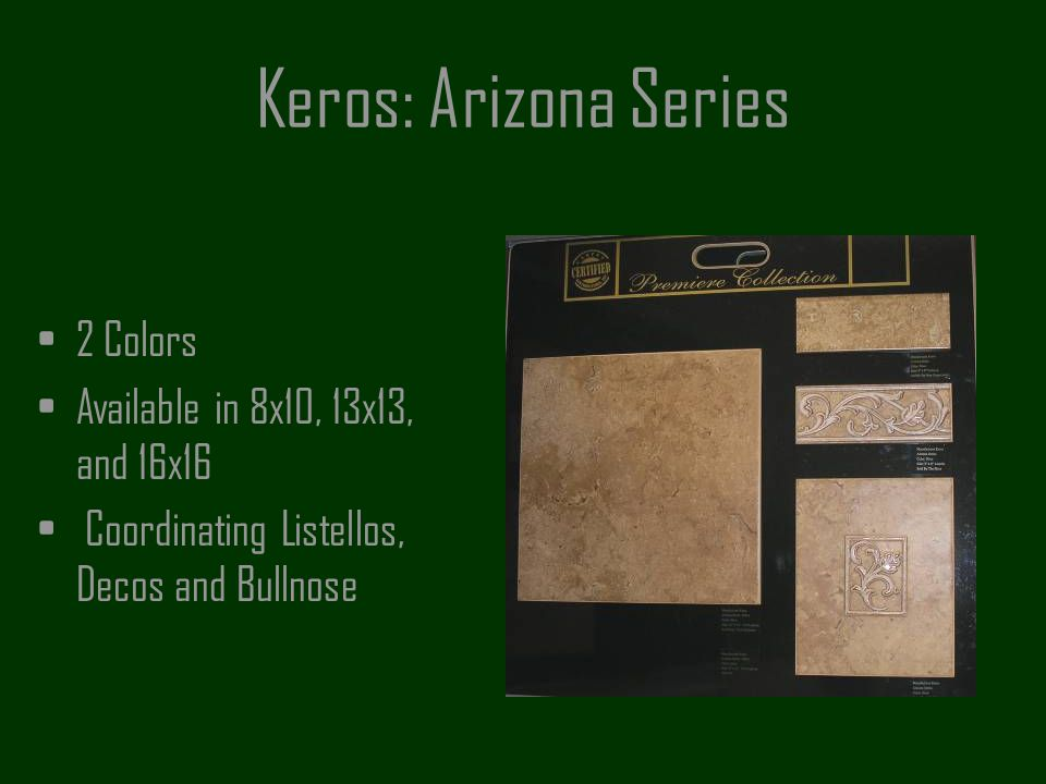 Keros: Arizona Series 2 Colors Available in 8x10, 13x13, and 16x16