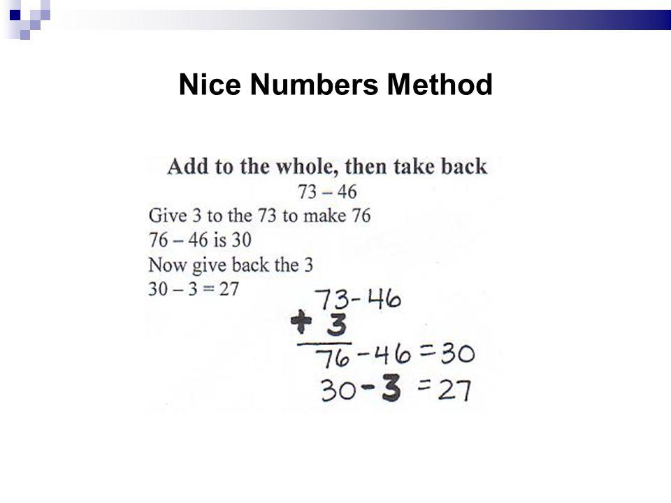 Nice Numbers Method 12