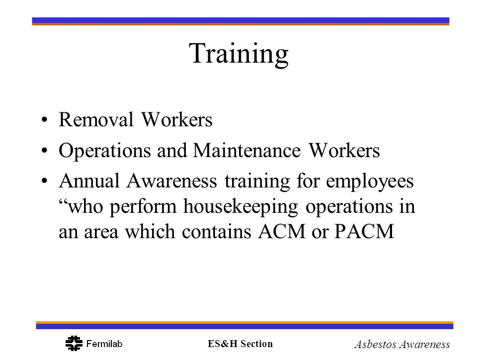 Training Removal Workers Operations and Maintenance Workers