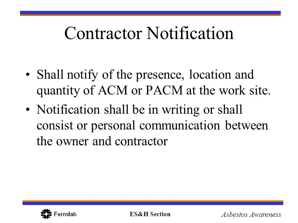 Contractor Notification