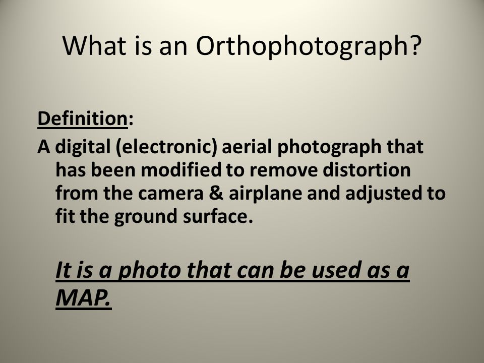 What is an Orthophotograph