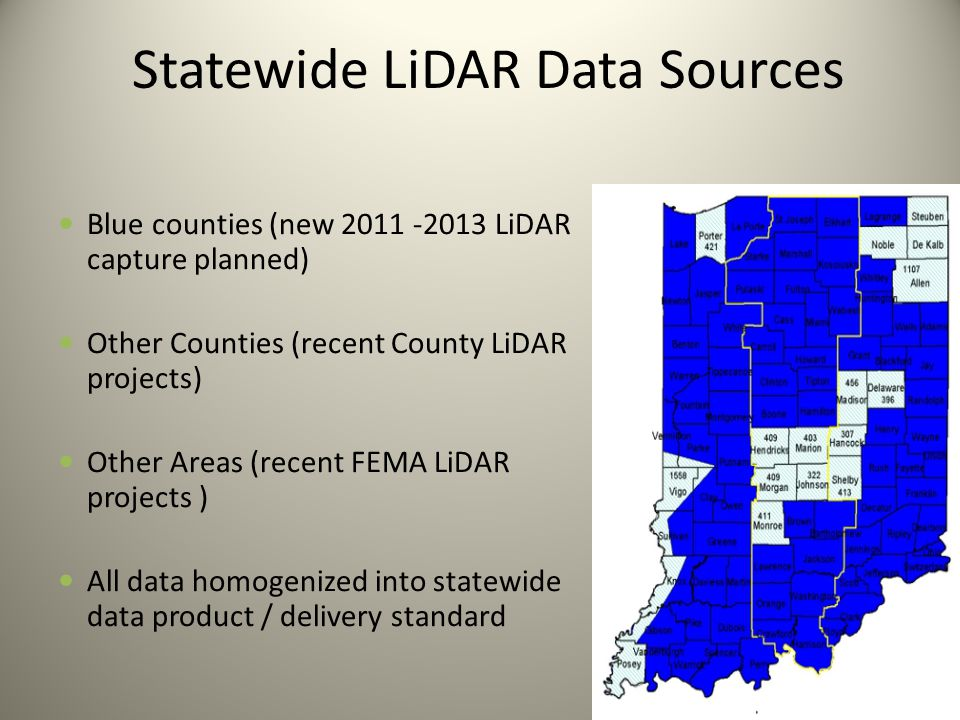 Statewide LiDAR Data Sources