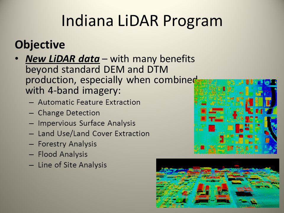 Indiana LiDAR Program Objective