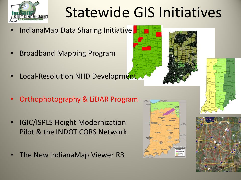 Statewide GIS Initiatives