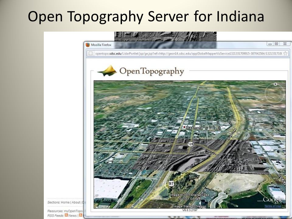 Open Topography Server for Indiana