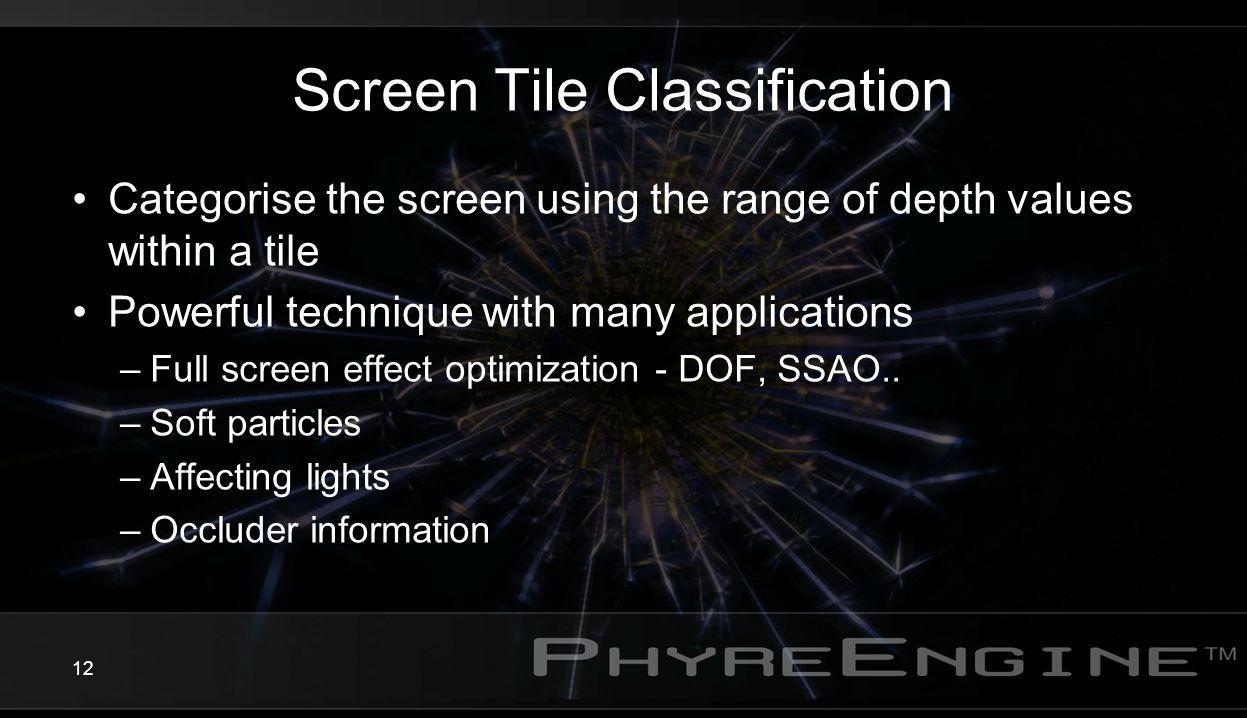 Screen Tile Classification