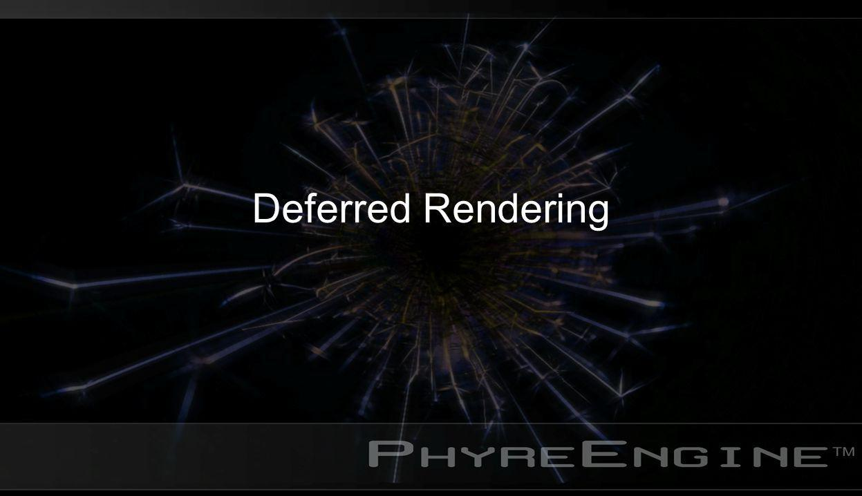 Deferred Rendering