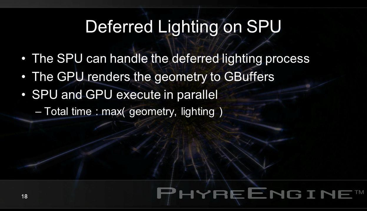 Deferred Lighting on SPU