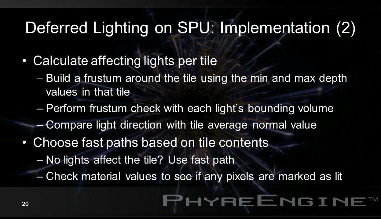 Deferred Lighting on SPU: Implementation (2)