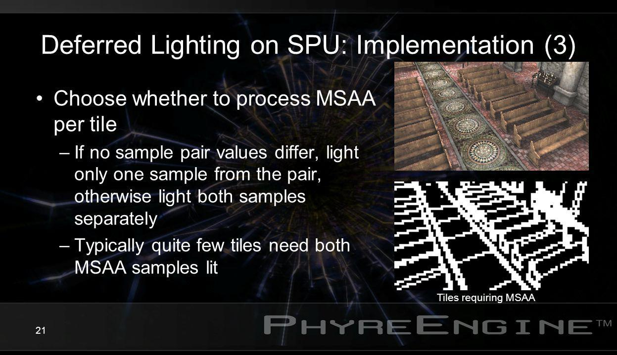 Deferred Lighting on SPU: Implementation (3)