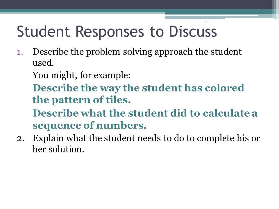 Student Responses to Discuss