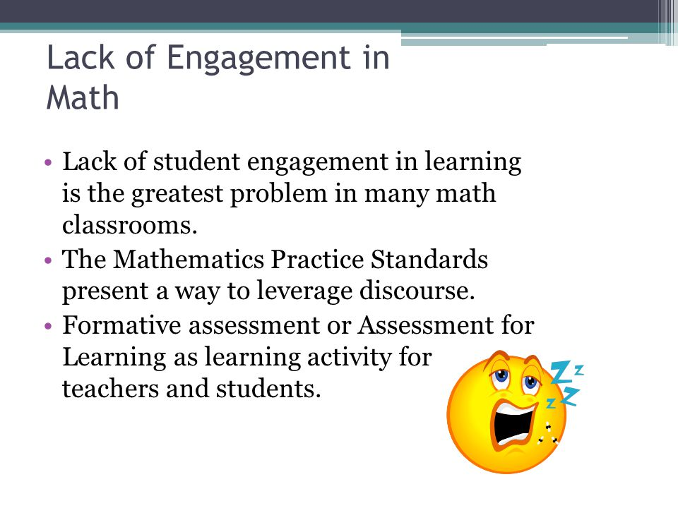 Lack of Engagement in Math