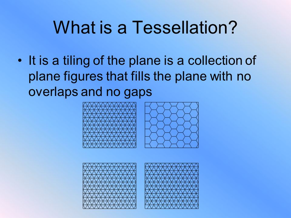 What is a Tessellation.