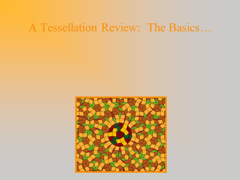A Tessellation Review: The Basics…