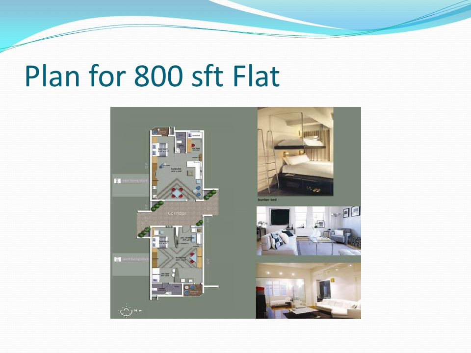 Plan for 800 sft Flat