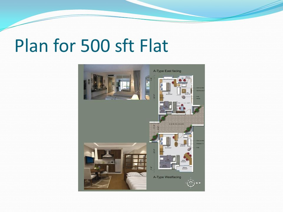 Plan for 500 sft Flat