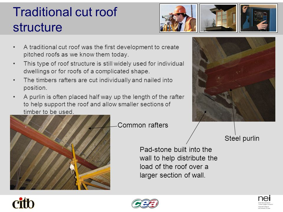Traditional cut roof structure