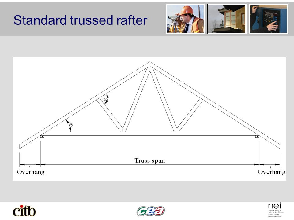 Standard trussed rafter