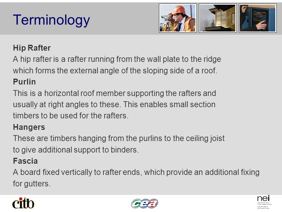 Terminology Hip Rafter