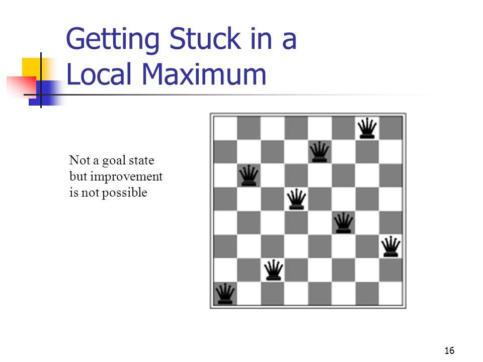Getting Stuck in a Local Maximum