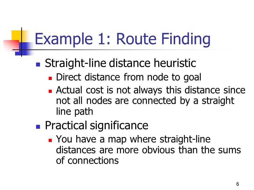 Example 1: Route Finding
