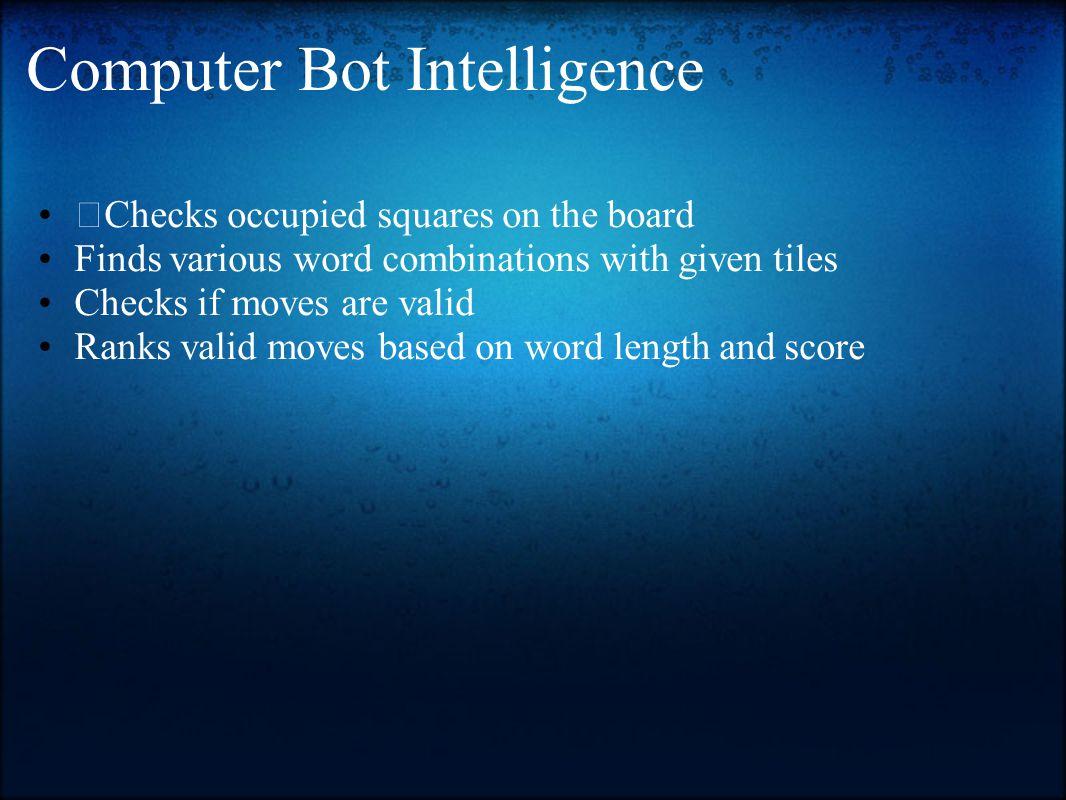 Computer Bot Intelligence