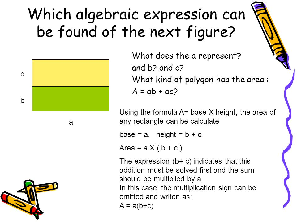 Which algebraic expression can be found of the next figure