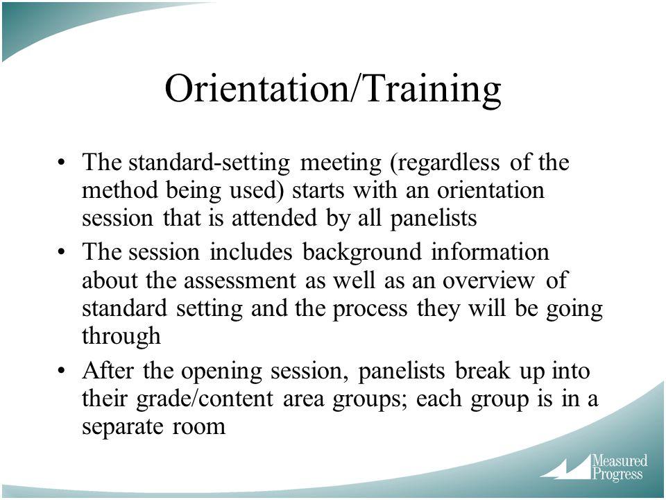 Orientation/Training