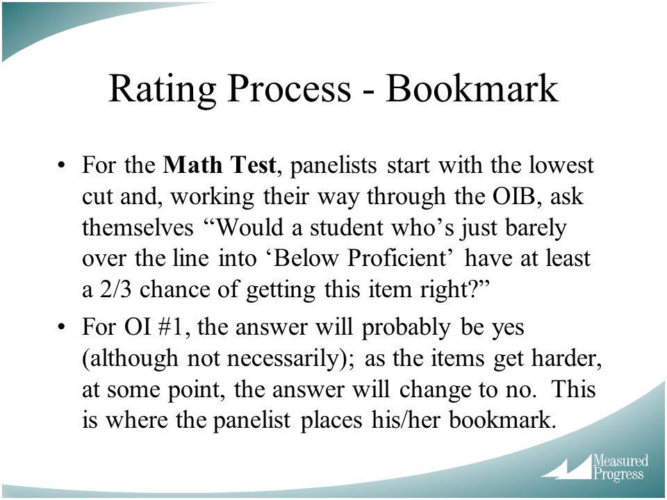 Rating Process - Bookmark