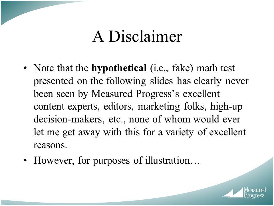 A Disclaimer