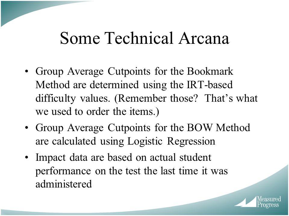 Some Technical Arcana