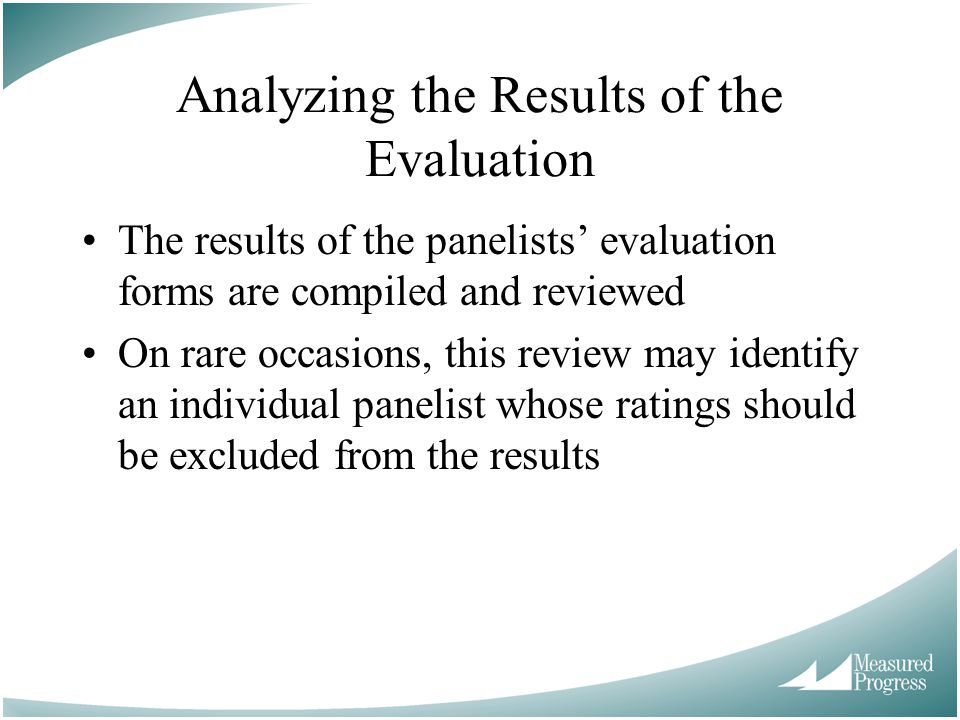 Analyzing the Results of the Evaluation