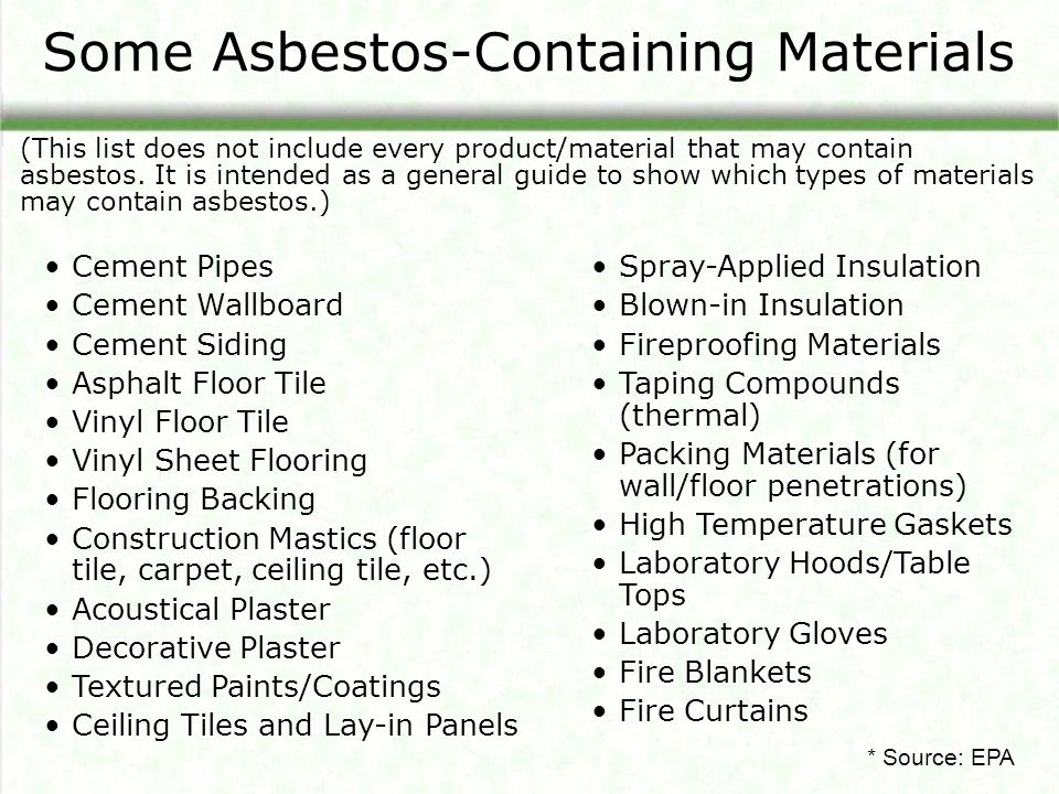 Asbestos An Overview Of Properties Health Effects And
