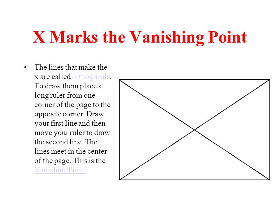 X Marks the Vanishing Point